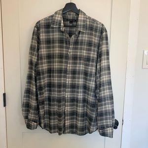 [john varvatos] men's plaid shirt - M
